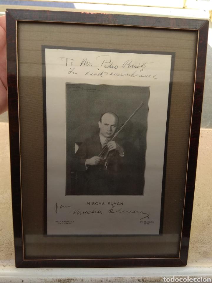 FOTO POSTAL FIRMADA Y DEDICADA POR EL VIOLINISTA MISCHA ELMAN 1928 - VIOLÍN - (Música - Autógrafos de Cantantes )