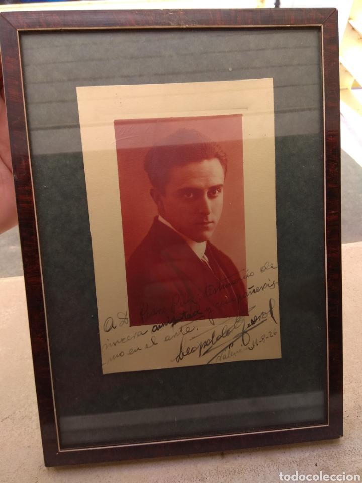 FOTO POSTAL FIRMADA Y DEDICADA POR EL PIANISTA LEOPOLDO QUEROL - PIANO - AÑO 1926 (Música - Autógrafos de Cantantes )