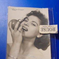 Autografi di Musica : ANTIGUA FOTOGRAFIA ARTISTA CON DEDICATORIA AUTOGRAFA ORIGINAL A TINTA 14X9 CM. . Lote 194880215