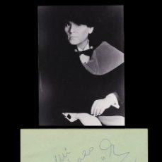 Autógrafos de Música : *** AUTÓGRAFO DEL CANTANTE RAPHAEL 1989, HOTEL LOS LEBREROS (SEVILLA) + FOTO ***. Lote 195110066