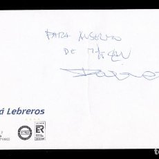 Autógrafos de Música : *** AUTÓGRAFO DEL CARLOS TARQUE (M-CLAN) 2000 EN SOBRE DEL MELIÁ LEBREROS (SEVILLA) ***. Lote 195111443
