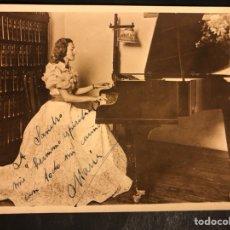 Autographes de Musique : FOTO CON FIRMA Y DEDICATORIA DE LA PIANISTA Y PROFESORA DE MÚSICA CATALANA MARÍA CANELA I ESTEVE. Lote 195246168