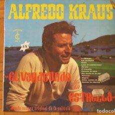 Autógrafos de Música : ALFREDO KRAUS. AUTÓGRAFO, FIRMA ORIGINAL EN LP EL VAGABUNDO Y LA ESTRELLA. 1965. CONTIENE LP.. Lote 195457925