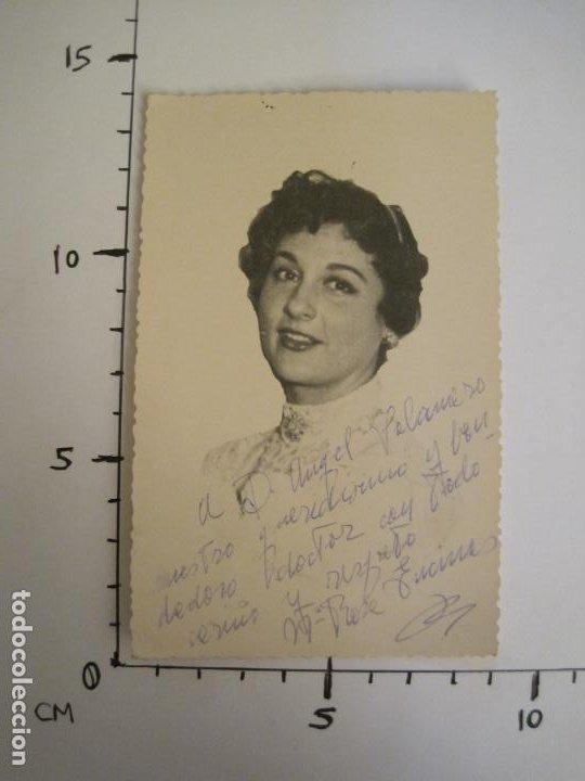 Autógrafos de Música : Mª ENCINAS-AUTOGRAFO-FOTOGRAFIA FIRMADA-VER FOTOS-(V-19.341) - Foto 4 - 196639705