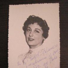 Autógrafos de Música : Mª ENCINAS-AUTOGRAFO-FOTOGRAFIA FIRMADA-VER FOTOS-(V-19.341). Lote 196639705