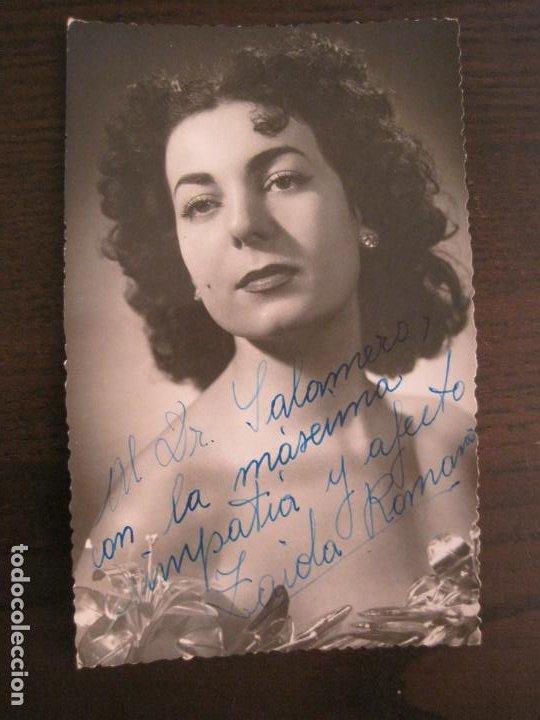 ZAIDA ROMANAS-AUTOGRAFO-FOTOGRAFIA FIRMADA-VER FOTOS-(V-19.350) (Música - Autógrafos de Cantantes )