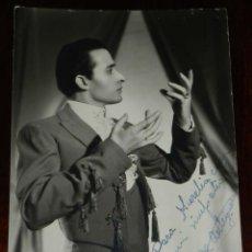Autógrafos de Música : FOTOGRAFIA ORIGINAL DEL ARTISTA TOMAS DE ANTEQUERA, CON DEDICATORIA DE SU PUÑO Y LETRA Y AUTOGRAFO, . Lote 197503451