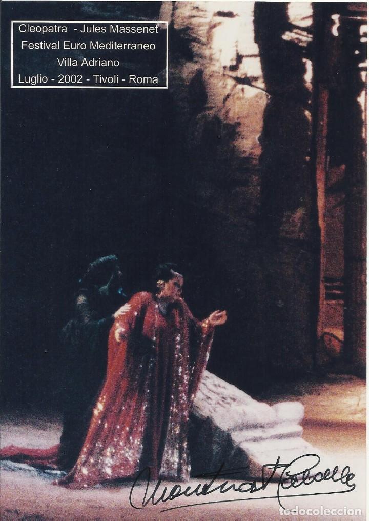MONTSERRAT CABALLÉ. AUTÓGRAFO. FIRMA ORIGINAL. VILLA ADRIANO. CLEOPATRA. 2002. ROMA. TIVOLI. ÓPERA. (Música - Autógrafos de Cantantes )