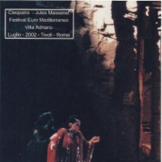 Autógrafos de Música : MONTSERRAT CABALLÉ. AUTÓGRAFO. FIRMA ORIGINAL. VILLA ADRIANO. CLEOPATRA. 2002. ROMA. TIVOLI. ÓPERA.. Lote 197741321