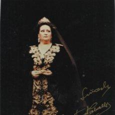 Autógrafos de Música : MONTSERRAT CABALLÉ. FOTOGRAFÍA CON AUTÓGRAFO, FIRMA ORIGINAL. TOSCA. 1998. ÓPERA.. Lote 197741952