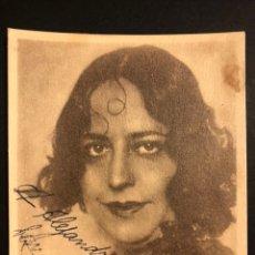 Autographes de Musique : FOTO CON AUTÓGRAFO DE LA SOPRANO CATALANA MERCE PLANTADA 12 X 9 CM. Lote 198567380