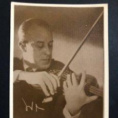 Autographes de Musique : FOTO CON DEDICATORIA Y AUTÓGRAFO DEL VIOLINISTA ENRIQUE INIESTA. Lote 200545613