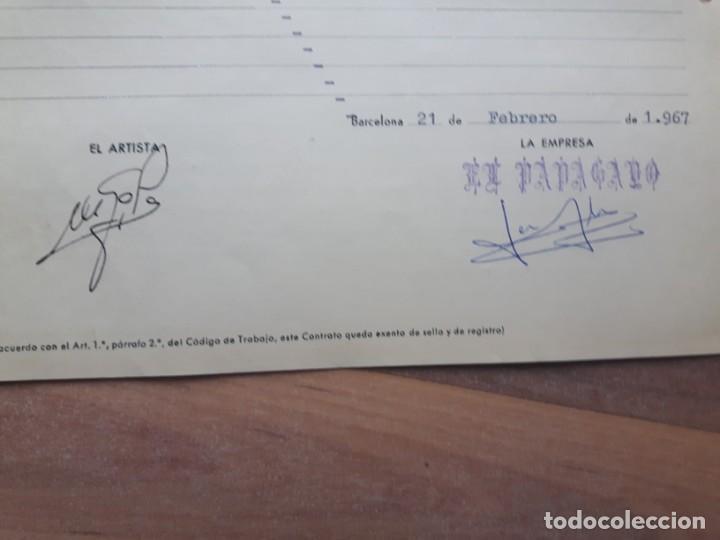 Autógrafos de Música : Contrato del humorista Gila para la sala de fiestas el Papagayo. Autógrafo original Miguel Gila. - Foto 2 - 200582510
