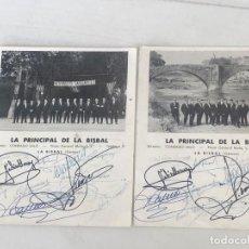 Autógrafos de Música : AUTÓGRAFOS DE LA PRINCIPAL DE LA BISBAL, GIRONA.. Lote 203321408
