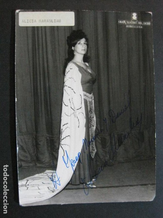 Autógrafos de Música : ALICIA MARASLIAU-AUTOGRAFO-GRAN TEATRO DEL LICEO-BARCELONA-FOTOGRAFIA FIRMADA-VER FOTOS-(V-19.983) - Foto 2 - 204089888