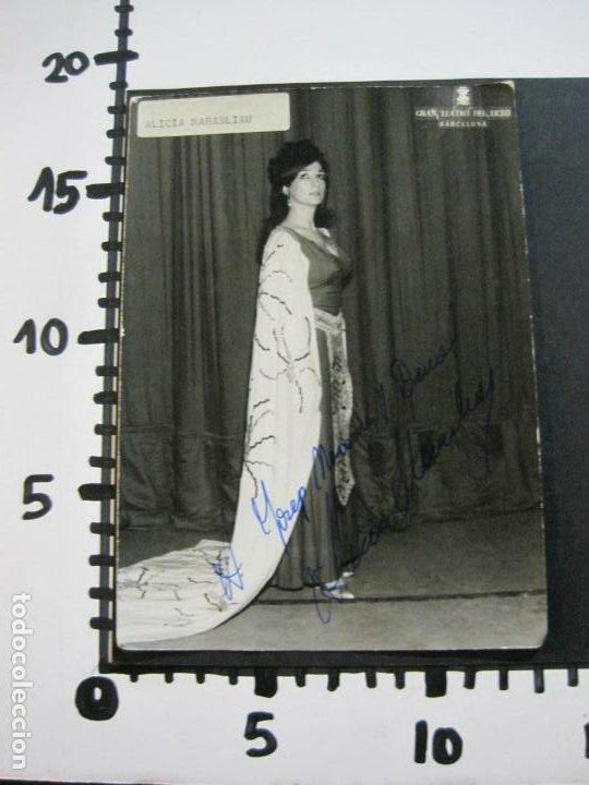 Autógrafos de Música : ALICIA MARASLIAU-AUTOGRAFO-GRAN TEATRO DEL LICEO-BARCELONA-FOTOGRAFIA FIRMADA-VER FOTOS-(V-19.983) - Foto 11 - 204089888