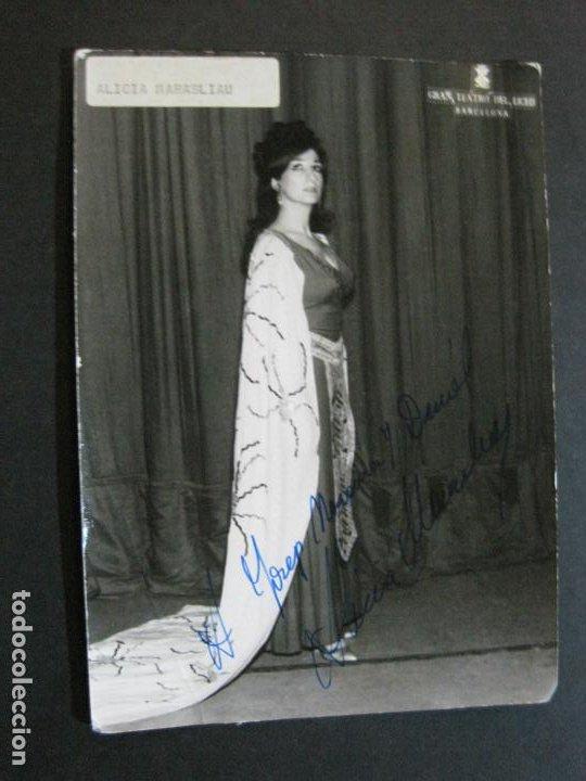ALICIA MARASLIAU-AUTOGRAFO-GRAN TEATRO DEL LICEO-BARCELONA-FOTOGRAFIA FIRMADA-VER FOTOS-(V-19.983) (Música - Autógrafos de Cantantes )