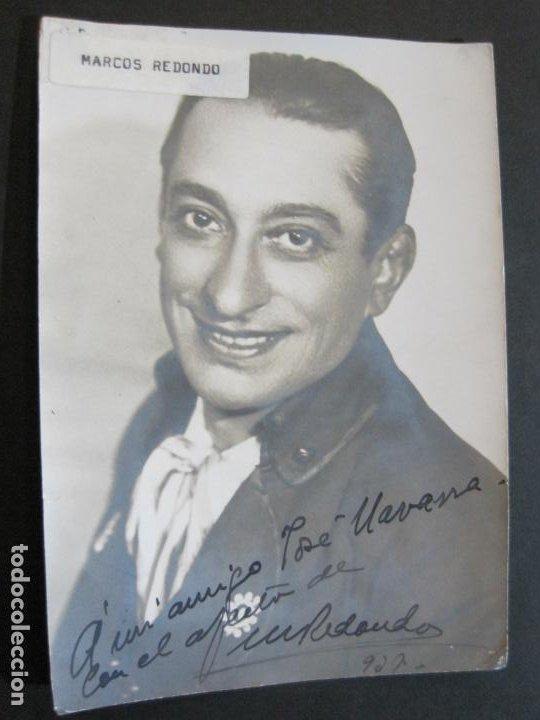 MARCOS REDONDO-AUTOGRAFO-FOTOGRAFIA FIRMADA-VER FOTOS-(V-19.984) (Música - Autógrafos de Cantantes )