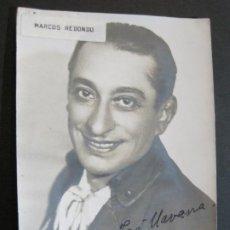 Autógrafos de Música : MARCOS REDONDO-AUTOGRAFO-FOTOGRAFIA FIRMADA-VER FOTOS-(V-19.984). Lote 204089986