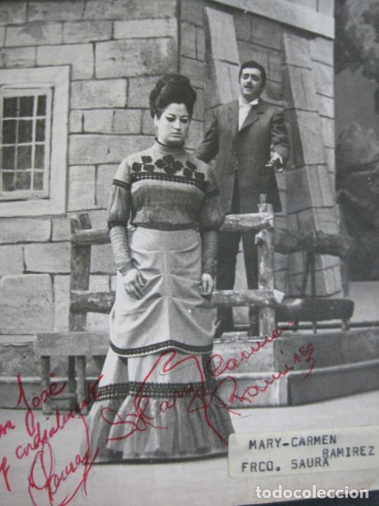 Autógrafos de Música : MARY CARMEN Y FRANCISCO SAURA-AUTOGRAFO-FOTOGRAFIA FIRMADA-VER FOTOS-(V-19.985) - Foto 2 - 204090513
