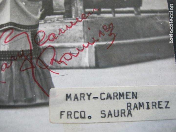 Autógrafos de Música : MARY CARMEN Y FRANCISCO SAURA-AUTOGRAFO-FOTOGRAFIA FIRMADA-VER FOTOS-(V-19.985) - Foto 3 - 204090513
