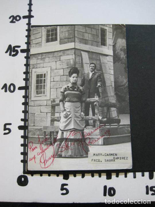 Autógrafos de Música : MARY CARMEN Y FRANCISCO SAURA-AUTOGRAFO-FOTOGRAFIA FIRMADA-VER FOTOS-(V-19.985) - Foto 7 - 204090513