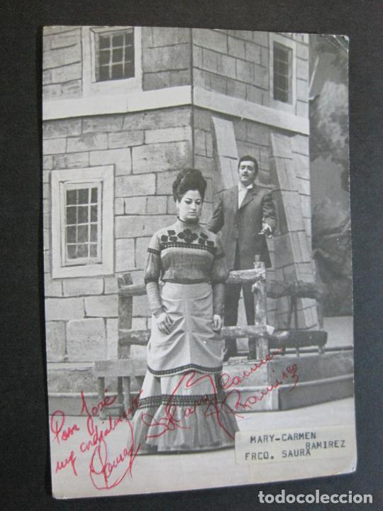 MARY CARMEN Y FRANCISCO SAURA-AUTOGRAFO-FOTOGRAFIA FIRMADA-VER FOTOS-(V-19.985) (Música - Autógrafos de Cantantes )