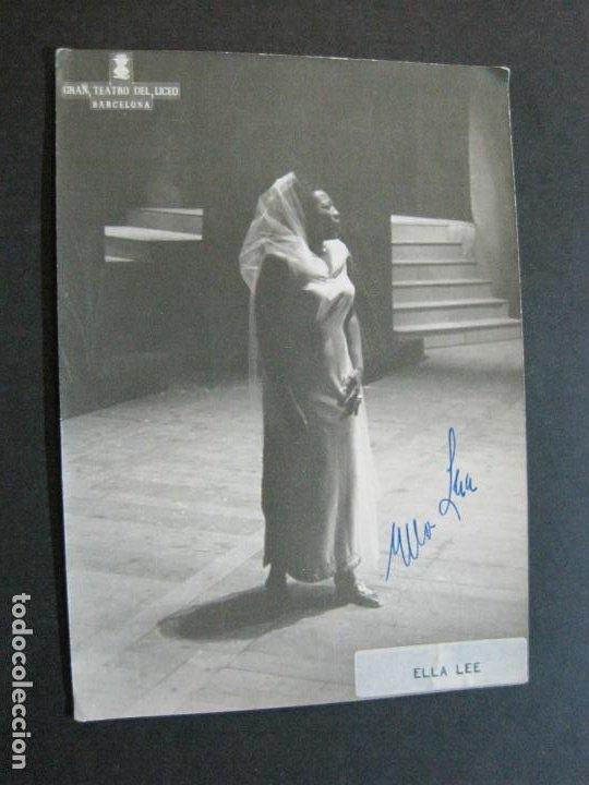 ELLA LEE-AUTOGRAFO-GRAN TEATRO DEL LICEO BARCELONA-FOTOGRAFIA FIRMADA-VER FOTOS-(V-19.986) (Música - Autógrafos de Cantantes )