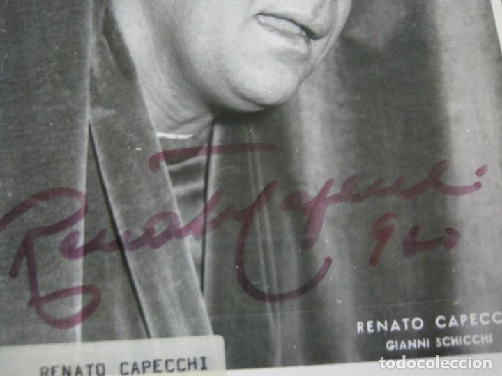 Autógrafos de Música : RENATO CAPECCHI-AUTOGRAFO-FOTOGRAFIA FIRMADA-VER FOTOS-(V-19.987) - Foto 3 - 204092141