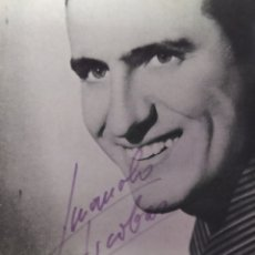Autógrafos de Música : TARJETA PROMOCIONAL DE MANOLO ESCOBAR CON AUTOGRAFO. Lote 204241368