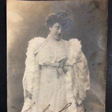 Autographes de Musique : FOTO CON AUTÓGRAFO DE LA SOPRANO CECILIA GAGLIARDI.VALENCIA 1921. Lote 204466172