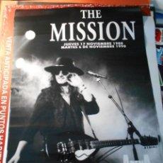 Autógrafos de Música : THE MISSION WAYNE HUSSEY CARTEL AUTOGRAFO ORIGINAL POSTER 30 ANIVERSARIO ARENA AUDITORIUM SPAIN. Lote 205020710