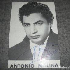 Autógrafos de Música : FOTO ANTONIO MOLINA CANTANTE CON AUTOGRAFO ORIGINAL. Lote 205718675