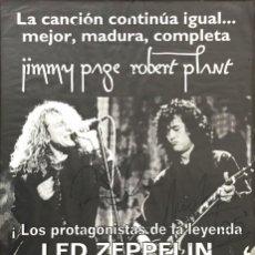 Autógrafos de Música : LED ZEPPELIN - PAGE & PLANT - AUTÓGRAFOS, FIRMADO (POSTER 1995 TOUR - CERTIFICADO). Lote 205824907