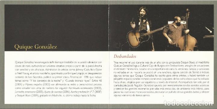 Autógrafos de Música : Quique González. Desbandados. Autógrafo, firma original. Díptico Cultural Caja Burgos. 2010. - Foto 2 - 207824792