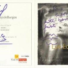 Autógrafos de Música : INTEMPERIE. AUTÓGRAFOS DE LUIS EDUARDO AUTE, TONI CARMONA, IGOR TUKALO Y CRISTINA NAREA.. Lote 221065245