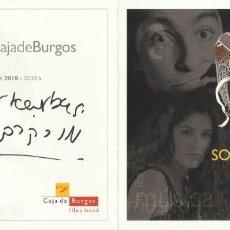 Autógrafos de Música : SONORIDADES. AUTÓGRAFOS DE MOR KARBASI. DÍPTICO CULTURAL CAJA BURGOS. 2010. ARA MALIKIAN.. Lote 207826546
