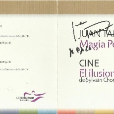 Autógrafos de Música : MAGIA POTAGIA. AUTÓGRAFO, FIRMA ORIGINAL JUAN TAMARIZ. DÍPTICO CULTURAL CAJA BURGOS. 2010.. Lote 207829763