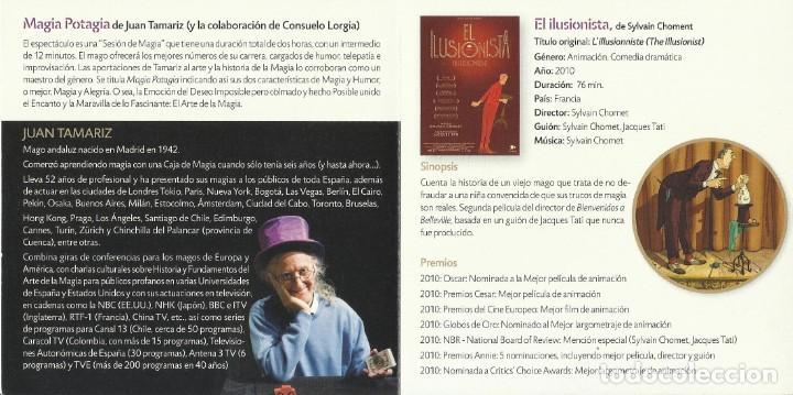 Autógrafos de Música : Magia Potagia. Autógrafo, firma original Juan Tamariz. Díptico Cultural Caja Burgos. 2010. - Foto 2 - 207829763