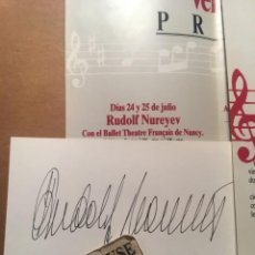 Autógrafos de Música : AUTOGRAFO ORIGINAL DEL BAILARIN RUDOLF NUREYEV , BALLET THEATRE FRANÇAIS DE NANCY. Lote 210828654