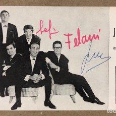 Autografi di Musica : LOS JAVALOYAS. FOTOGRAFÍA PROMOCIONAL DISCOGRÁFICA LA VOZ DE SU AMO (1965). CON AUTÓGRAFOS.. Lote 211674656