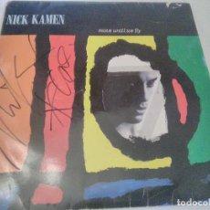 Autografi di Musica : DISCO, LP, VINILO NICK KAMEN. I PROMISED MYSELF. AUTÓGRAFO DEL ARTISTA EN LA CARÁTULA Y EN ENCARTE. Lote 234335530