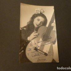 Autógrafos de Música : CONCHITA C. GALLAR CANTANTE FOTOGRAFIA DEDICADA CON FIRMA AUTOGRAFA 1947 8,5 X 14 CMTS. Lote 216533008