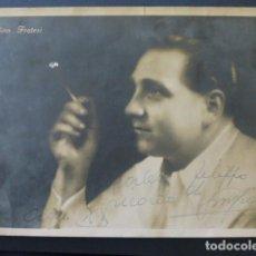 Autógrafos de Música : GINO FRATESI CANTANTE FOTOGRAFÍA CON FIRMA AUTOGRAFA. Lote 217144260
