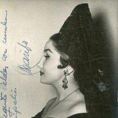 Autografi di Musica : POSTAL DE MARIFE DE TRIANA FIRMADA. Lote 217507376