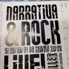 Autographes de Musique : AUTOGRAFO DE LOQUILLO, NARRATIVA & ROCK, MUY RARA. Lote 218089196
