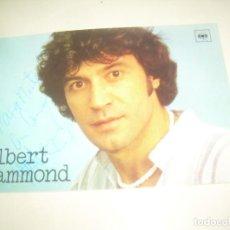 Autógrafos de Música: FIRMA ALBERT HAMMOND, TARJETA DISCOGRAFIA 1977 DEDIDADA FIRMADA AUTOGRAFO CANTANTE. Lote 218195740