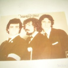 Autógrafos de Música: FIRMA MARTES Y TRECE 13, TARJETA DISCOGRAFIA 1979 FIRMADA AUTOGRAFO FERNANDO, MILLÁN Y JOSEMA. Lote 218196825