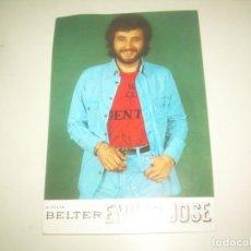 Autógrafos de Música: FIRMA EMILIO JOSE, TARJETA FIRMADA AUTOGRAFO ARTISTA BELTER. Lote 218198293