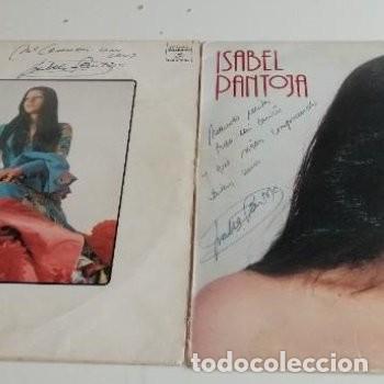 BAL-7 LOTE DE 2 DISCO CON DEDICATORIA FIRMA AUTÓGRAFO DE ISABEL PANTOJA VER FOTOS ESTUDIO OFERTAS (Música - Autógrafos de Cantantes )
